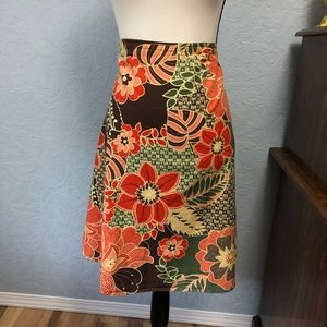 St Johns Bay A Line Skirt Floral A57P
